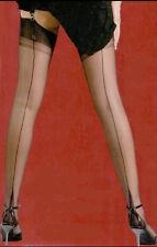 GIO Nylons Nahtnylons Nylonstrümpfe Straps 12,5 XXL schwarz black POINT heel