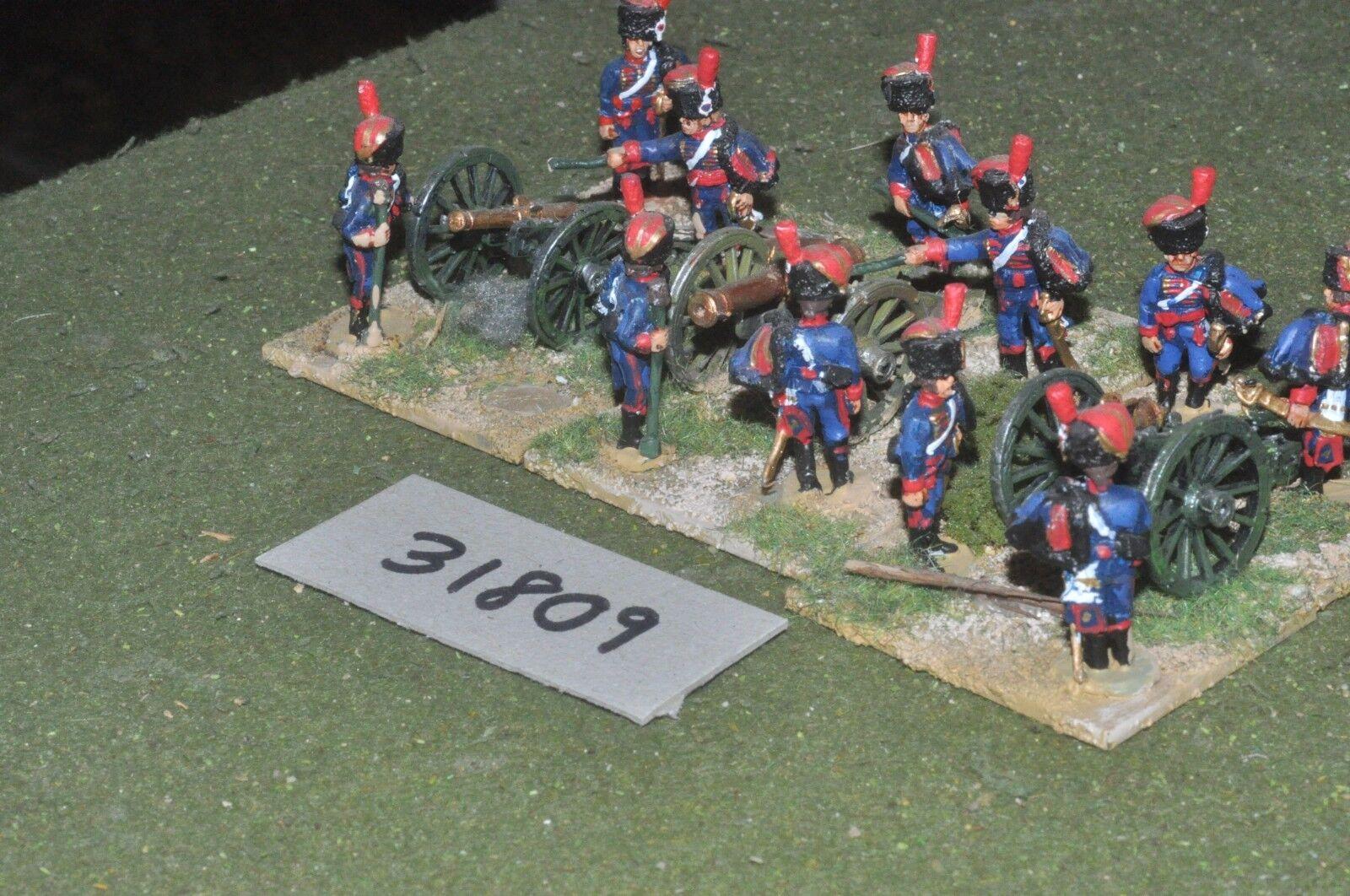 25mm napoleonic   french - guard 3 guns & crews - art (31809)