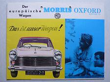 Prospekt Morris Oxford Series VI, 11.1961, 12 Seiten, folder
