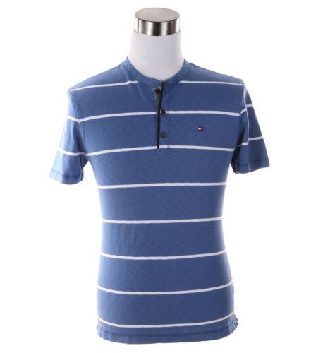 $0 Free Ship Tommy Hilfiger Men/'s Short Sleeve Crew-Neck Stripe Tee T-Shirt