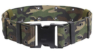 Tactical Pistol Belt Marine Corps Style Quick Release Woodland Camo Rothco 9048
