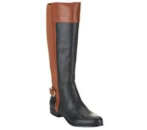 Isaac Mizrahi Toby Leather Riding Boots