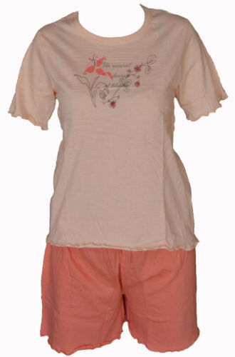 Toller Damen Shorty Schlafanzug Pyjama 3 Farbkombinationen 36-50 Größen S-XL