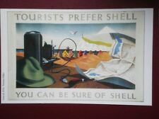 POSTCARD  SHELL POSTER - TOURISTS  USE SHELL - YOU CAN BE SURE OF SHELL