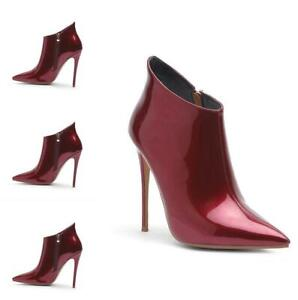 Sexy-Womens-Punk-Ankle-Boots-Stiletto-High-Heel-Pointy-Toe-Party-Patent-Leather