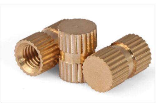 10X Blind Insert Filetage M3 L = 8 mm laiton écrou Moulage Inserts Filetés Bld M3x8mm