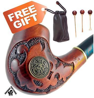 """HAND CARVED Tobacco Smoking Pipe/Pipes """"LANCELOT""""+ CLEANING TOOLS in GIFT!!!"""