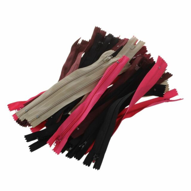 sale 50 Assorted Dress Upholstery Craft Nylon Metal Closed Open Ended Zi C1 K4S9