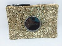 Mimco Sparks Pouch Wallet Gold Gunmetal Leather