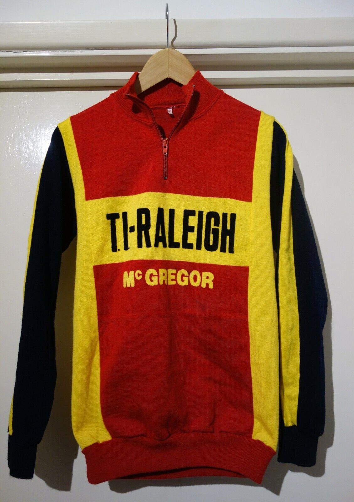 VINTAGE TI RALEIGH McGREGOR Cycling Jersey 1970s Small Medium EROICA