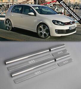 VW-Golf-Mk6-GTI-09-12-4-Door-Stainless-Steel-Sill-Protectors-Kick-Plates