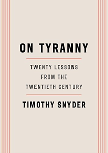 Snyder Timothy-On Tyranny BOOK NEW