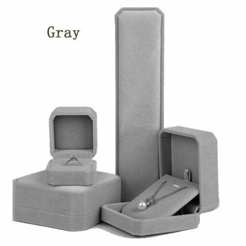 Square Wedding Velvet Earring Ring Box Jewelry Display Case Gift Organiser boxes