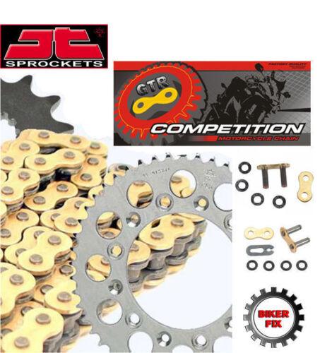 KTM 125 SX Motocross 1995-2018 GOLD Heavy Duty X-Ring Chain and Sprocket Kit Set