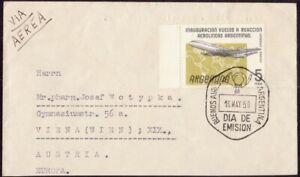 ARGENTINA 1959 Argentina Airways Inauguration Jet Flights FDC addressed @D9051