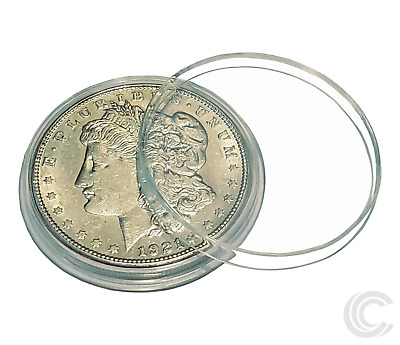 100 AirTite H38 Coin Holder Direct Fit Capsules Silver Dollars Morgan Peace Ike
