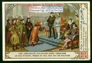 French King Charles IX c1900 Trade Ad Card