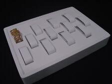 12l X 9w 12 Parts White Leatherette Bracelet Watch Display Case Stand Rt2w1