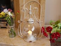 Ornate Lantern In Cream Shabby Chic Finish Very Ornate