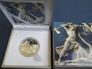 Rare-2011-Palau-Proof-Color-Silver-2-Bible-Cain-Abel-Box-mintage-1000