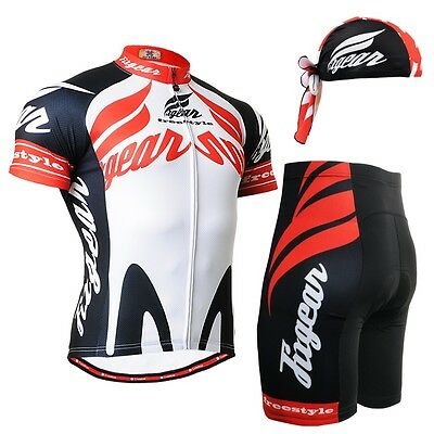 FIXGEAR CS-1202-SET Cycling Jersey & Shorts Padded, Bicycle Wear, MTB Road Bike