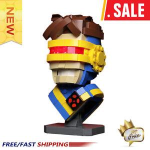 New-Super-Hero-MOC-Custom-Cyclops-Bust-MOC-13639-Superman-x-men-Building-Blocks