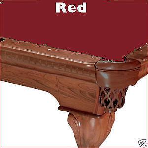 8/' Pro Oversized Red ProLine Classic TEFLON Billiard Pool Table Cloth Felt