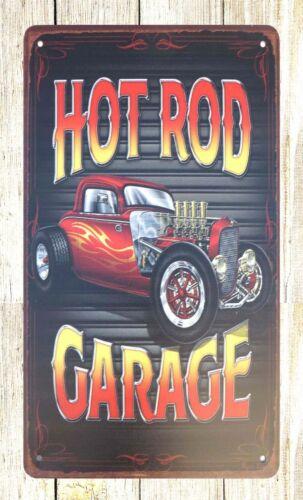cafe pub advertising wall art Hot rod Garage auto shop tin metal sign US SELLER