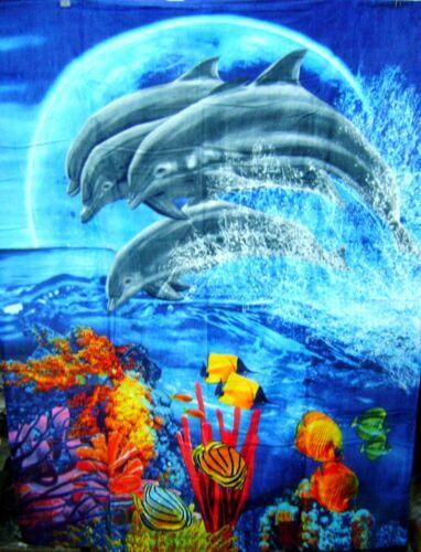 Dolphins Jumping Blanket Beach Towel Bath Towel 54 x 68 Huge Towel Dolphin