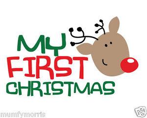 75e29f21b10f4 Image is loading MY-1ST-CHRISTMAS-A5-IRON-ON-T-SHIRT-