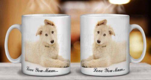 AD-GS5lymMG White German Shepherd /'Love You Mum/' Coffee//Tea Mug Christmas Stock
