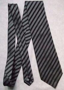 2019 DernièRe Conception Cravate Homme Cravate C&a Noir Argent à Rayures Gris-afficher Le Titre D'origine Divers Styles