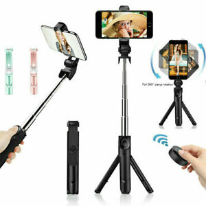 Selfie-Stick-Tripod-w-Remote-Desktop-Stand-Cell-Phone-Holder-For-Samsung-iPhone