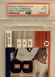 Tom-Brady-First-NFL-Game-Full-Ticket-2000-PSA