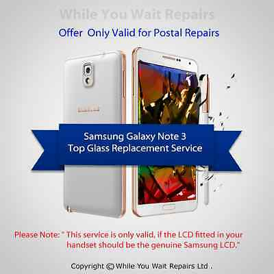 Samsung Galaxy Note3 N9005 Screen Replacement Cracked Front Glass Repair Service