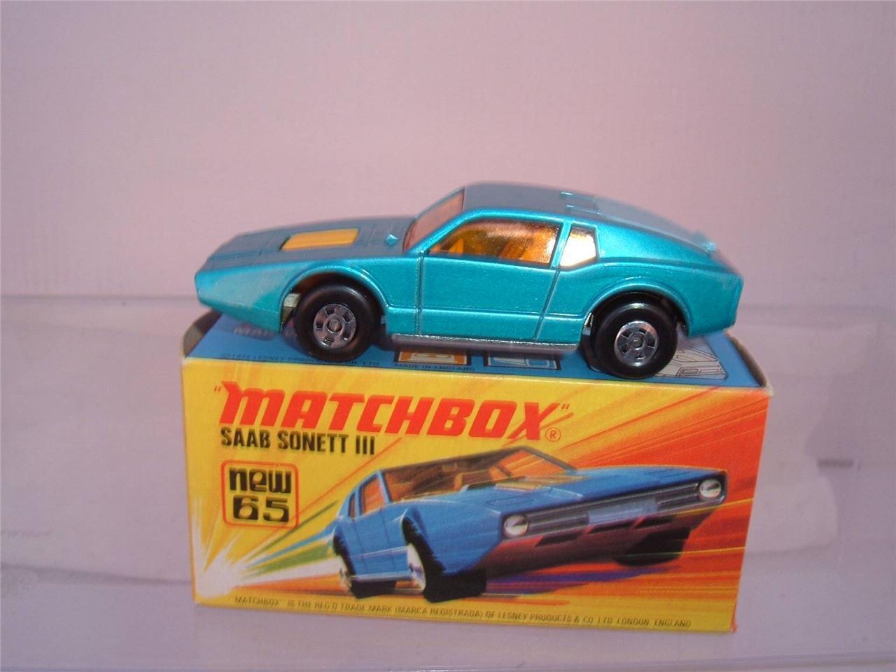 MATCHBOX LESNEY SUPERFAST NO65 blueE SAAB SONETT 111 & & & ORIGINAL BOX SEE PHOTOS ff8e3d