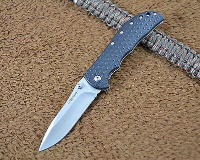 HARNDS CK6013 Pocekt EDC Folding Knife Tool 8Cr14Mov Blade GFN Handle w/ Clip