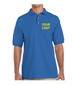 Royal Blue Unisex Polo Shirt Embroidered With Your Logo Company Work