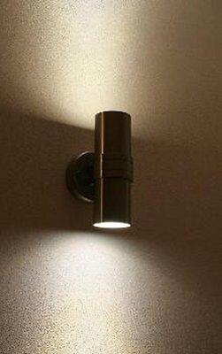 LED Edelstahl Außenleuchte Wandleuchte Wandlampe UP&DOWN 2 x 6 Watt MB 008638