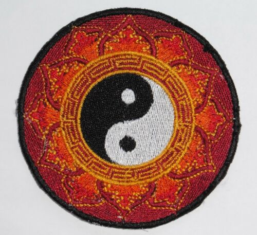 Nepalese Made Blue or Red Yin Yang 8cm * Sew On Patch