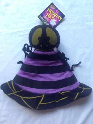 """Halloween Spider Novelty Hat Fancy Dress Party Up 20/"""" All The Way Round Kids New"""