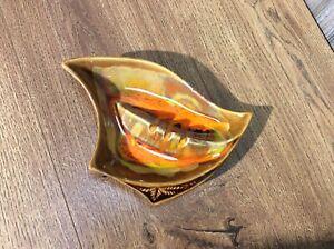 Mid-Century-Drip-Glaze-Pottery-Ashtray-Ash-Tray-MCM-California-USA-A6