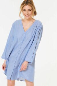 Bon-Marche-Azul-Playa-Camiseta-Blusa-Tunica-Talla-12-14-18-20-22-24-28-de-gran-tamano