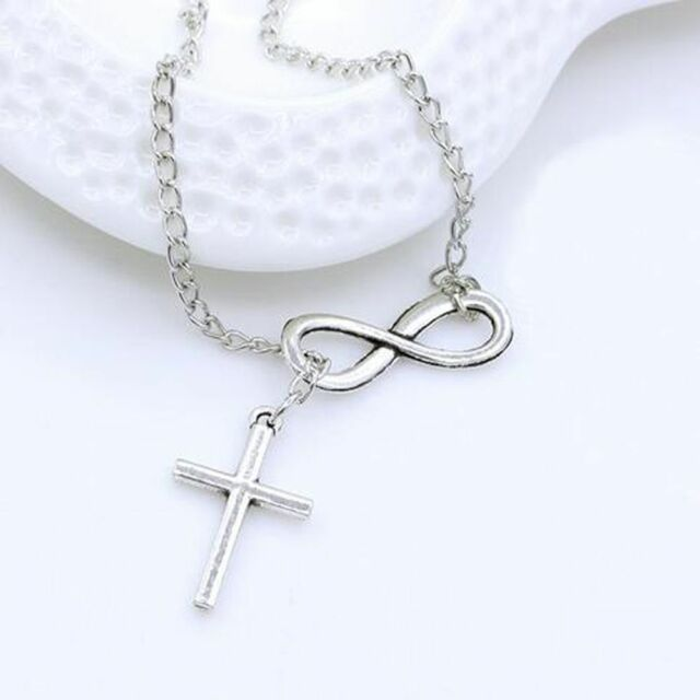 Fashion Lovely Jewelry Long Charm Choker Infinity Necklace Cross Pendants