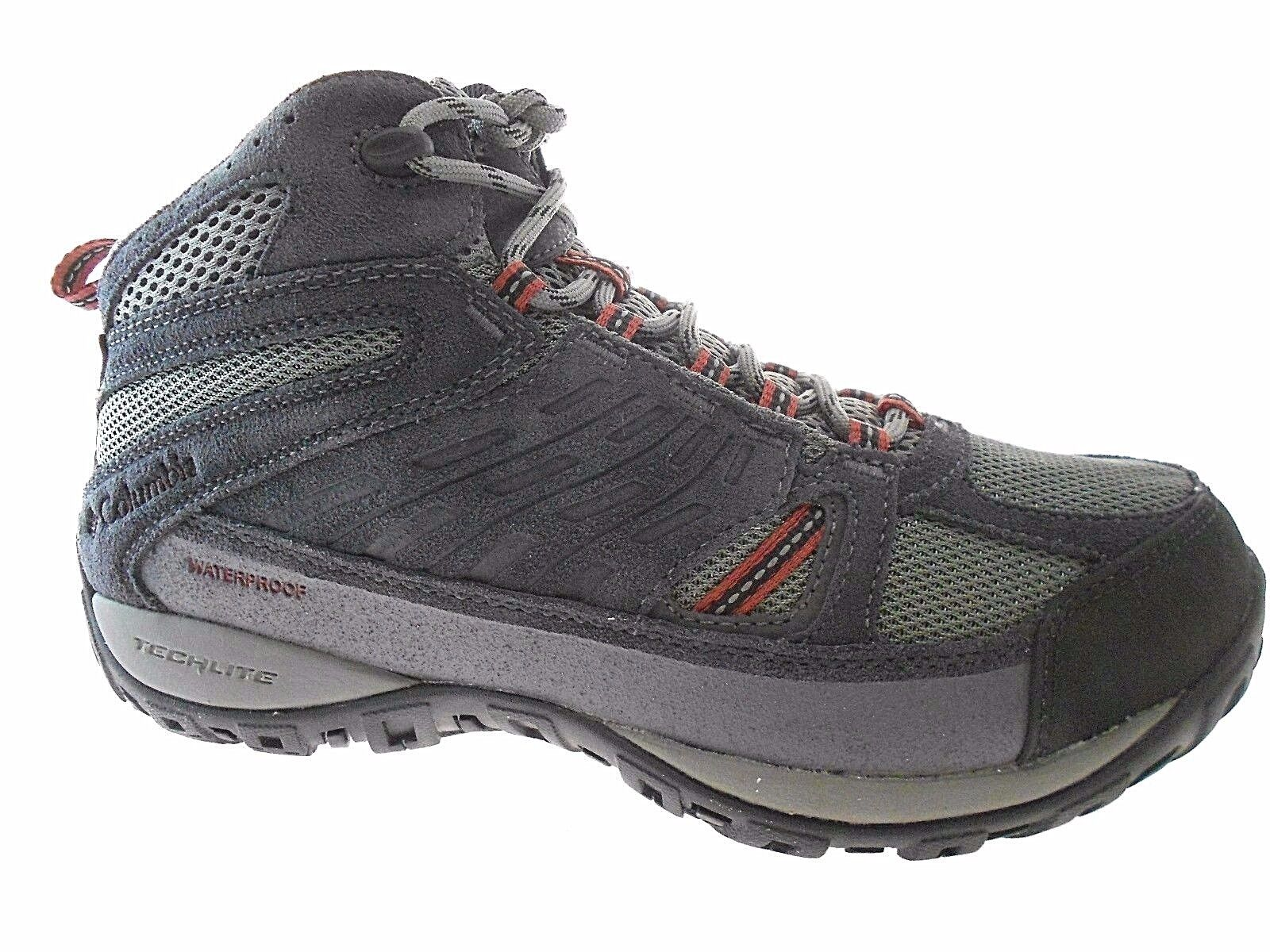 COLUMBIA ACCESS POINT MID MEN'S CHARCOAL WATERPROOF HIKING BOOTS  YI5296-030