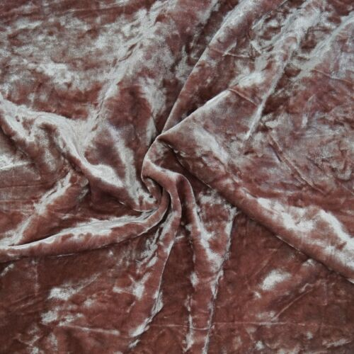 Crushed Velvet Fabric Bling Ice Glitz Premium Stretch Upholstery /& Curtain