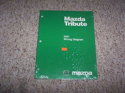2001 Mazda Tribute Factory Original Electrical Wiring Diagram Manual Book Ebay