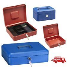 Caja fuerte metalica portatil caudales gigante Rojo y azul depositar dinero