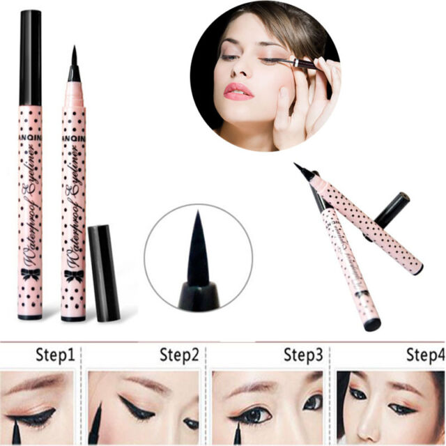 Elegant Black Eyeliner Waterproof Liquid Eye Pencil Pen Make Up Beauty Comestics