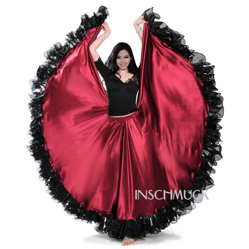 C246 Danza del ventre Flamenco Gonna con 720 Laurea diploma Tribale circolare